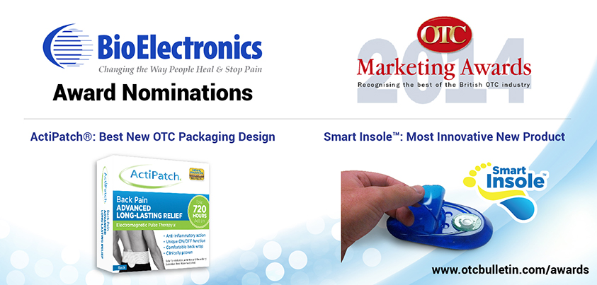 ActiPatch® and Smart Insole™ Pain Relief Products Nominated for Marketing Awards by the OTC Bulletin