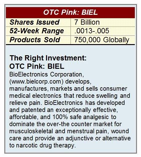 BioElectronics Pain Relief Investor Symbol